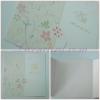55054 การ์ดแต่งงานสี่เหลี่ยมจัตุรัส 3 พับ สีชมพู