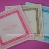 CG011 การ์ดแต่งงานสี่เหลี่ยมพับ (มี 3สี ให้เลือก)