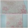 55067 การ์ดแต่งงานสี่เหลี่ยมจัตุรัส 2 พับ สีชมพู