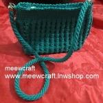 กระเป๋าถือเชือกร่ม รหัสPB010 ก้นกระเป๋า 10x24ซม. สูง 23ซม.สายยาว 100ซม.
