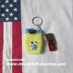 กระเป๋าอเนกประสงค์พวงกุญแจ #30-001 size4x7.5cm.