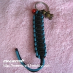 """พวงกุญแจเชือกร่มพร้อมตุ๊กตา #KT028 ยาว3"""""""