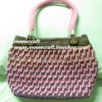 กระเป๋าถือเชือกร่ม รหัส90-006 ก้นกระเป๋า 10x26ซม. สูง 21ซม.