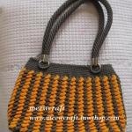 กระเป๋าถือเชือกร่ม รหัสPB024 ก้นกระเป๋า 8x26ซม. สูง 21ซม.