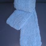 ผ้าพันคอไหมขนแกะ#scf009 ขนาด13x154ซม.