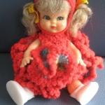 """ตุ๊กตาไหมพรม #Doll009 ขนาด5"""""""