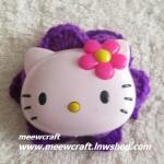 ไหมพรมhello kitty ใหญ่ กว้าง8 ซม. #044-001