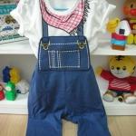 setชุดเอี๊ยม (เสื้อยืด+กางเกงเอี๊ยม) size90