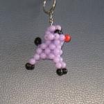 """พวงกุญแจสุนัขพุดเดิ้ล#AB006 ขนาด2"""""""