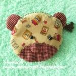 กระเป๋าสตางค์หมี ขนาดยาว8ซม.สูง7ซม. #055-004