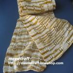 ผ้าพันคอไหมพรม#scf047 ขนาด15x172ซม.