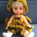 """ตุ๊กตาไหมพรม #Doll008 ขนาด6"""""""