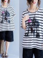 JY25912#เสื้อOversizeสไตล์เกาหลี เสื้อโอเวอร์ไซส์แต่งลายแนวๆ อก*100ซม.ขึ้นไปประมาณ40-42นิ้วขึ้น