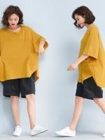 JY25896#เสื้อOversizeสไตล์เกาหลี เสื้อโอเวอร์ไซส์แต่งลายแนวๆ อก*100ซม.ขึ้นไปประมาณ40-42นิ้วขึ้น
