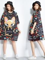 JY25921#เสื้อOversizeสไตล์เกาหลี เสื้อโอเวอร์ไซส์แต่งลายแนวๆ อก*100ซม.ขึ้นไปประมาณ40-42นิ้วขึ้น
