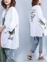 JY25922#เสื้อOversizeสไตล์เกาหลี เสื้อโอเวอร์ไซส์แต่งลายแนวๆ อก*100ซม.ขึ้นไปประมาณ40-42นิ้วขึ้น