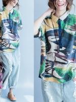 JY25903#เสื้อOversizeสไตล์เกาหลี เสื้อโอเวอร์ไซส์แต่งลายแนวๆ อก*100ซม.ขึ้นไปประมาณ40-42นิ้วขึ้น