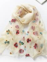 ผ้าพันคอ ลายดอกไม้