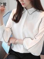 เสื้อเชิ้ต ผ้าชีฟองมีไซส์ช่วงอก โดยประมาณ S:86-88ซม./M:88-90ซม./L:92-96ซม./XL:96-100ซม.