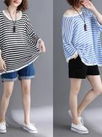 JY25895#เสื้อOversizeสไตล์เกาหลี เสื้อโอเวอร์ไซส์แต่งลายแนวๆ อก*100ซม.ขึ้นไปประมาณ40-42นิ้วขึ้น