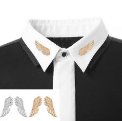 เข็มกลัดพินติดปกเสื้อรูปปีกสีทอง