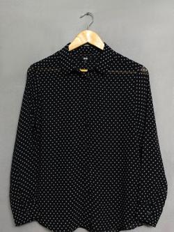 เสื้อเชิ้ตผ้าชีฟอง Uniqlo ไซส์ XL