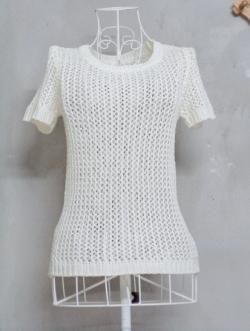 เสื้อถักสีขาว made in korea