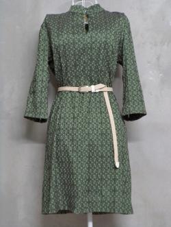 เดรสวินเทจสีเขียว