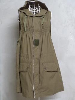 เดรสเอี๊ยมแฟชั่นญี่ปุ่น สี Military