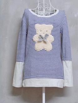 เสื้อยืดแขนยาวลายตุ๊กตาหมี