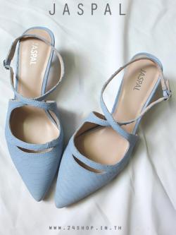รองเท้าแบรนด์ JASPAL สีฟ้า ไซส์ 39
