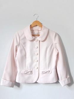 เสื้อคลุมทำงานสีชมพูอ่อน แบรนด์ IDEALIZE