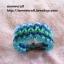 """สร้อยข้อมือเชือกร่มลูกปัด #BRR028 size 7"""" thumbnail 1"""