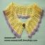 """ปกเสื้อโครเชต์ รหัส 05-083 ขนาด3""""x22"""" thumbnail 3"""