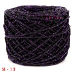 #M-13 (ดำ ดิ้นม่วง)