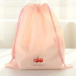 สีชมพูอ่อน 26.7 x 31.3 : ถุงหูรูด ลายน่ารักสำหรับ ใส่ของแยกเป็นสัดส่วน ตอนเดินทาง