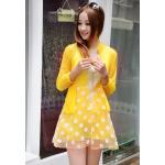 เสื้อคลุม เสื้อ Jacket ผู้หญิง ผ้าซีทรู ตัวยาว สามารถใส่เป็น เดรส ได้เลย สีเหลืองมะนาว ใส่เที่ยวทะเล สีสันสดใส แฟชั่น เก๋ ๆ 463462_3