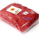 เชือกร่ม (500 กรัม) #705 (สีแดงสด ดิ้นเงิน)