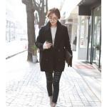 L : CLASSIC BLACK COAT [ เสื้อโค้ท กันหนาว สีดำ ] พร้อมส่ง