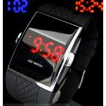 นาฬิกาข้อมือ Led แฟชั่นเก๋ ๆ ผู้ชาย ผู้หญิงใส่ ได้ บอกตัวเลข เป็น Digital สายซิลิโคนอย่างดี สีดำ สีแดง สีเหลือง สีขาว no 7095137