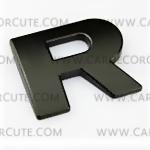 สติกเกอร์โลโก้ตัวอักษรโลหะ 3D - R