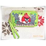 กระเป๋า angry bird สีเขียว 3 ซิป