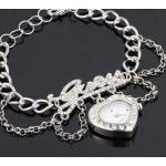 สร้อยข้อมือนาฬิกา นาฬิกาข้อมือผู้หญิง สีเงิน ฝัง เพชรคริสตัล สุดหรู ของขวัญให้แฟน สุดหรู no 934986