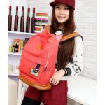 กระเป๋าสะพายหลัง กระเป๋าเป้ ผ้า canvas หรือ ผ้ายีนส์ กระเป๋าใส่หนังสือ ไปเรียนได้ แฟชั่น ญี่ปุ่น หูแมว น่ารักสุด ๆ สีแดง แตงโม no 4833060_3