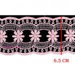 ผ้าลูกไม้ (สีชมพูอ่อน) # 5804 กว้าง 6.5 ซม.