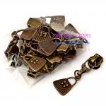 หัวซิป สีทองเหลืองรมดำ เบอร์ #5 - รูปกระเป๋า (แพ็ค 12 ชิ้น)