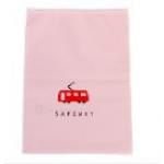 สีชมพูอ่อน 28x40 : ถุงซิปล๊อก ลายน่ารักสำหรับใส่ของ แยกเป็นสัดส่วน ตอนเดินทาง