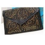 กระเป๋าถือกระเป๋าสะพาย ใส่เอกสารได้ แบบบาง ฉลุลาย มีสายสะพายได้ กระเป๋าใส่เอกสารผู้หญิง สีดำ no 339233_4