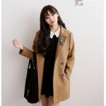 ไซส์ L : เสื้อโค้ทกันหนาว ทรงเรียบง่าย ผ้าวูลเนื้อดี บุซับในกันลม จะใส่คลุม หรือใส่เป็นโค้ทก็สวยเก๋ พร้อมส่งจ้า