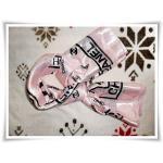 ผ้าพันคอ chanel สีชมพูหวาน Size 39*40 นิ้ว
